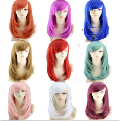 wholesal Synthetic Anime Wig Straight Hair Full Wig Medium  for Cosplay Party