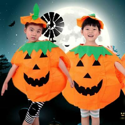 adults kids novelty pumpkin halloween fancy dress party costume outfit y