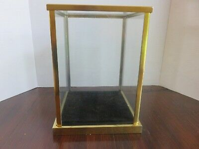 Vintage Display Case Brass and Glass
