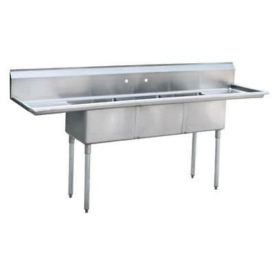 """Commercial 90"""" 3-Compartment stainless steel sink 3 bay commercial sink NSF"""