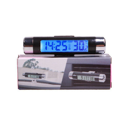 Vehicle Digital Car Auto LED inside&outside Clock Temperature Thermometer Gauges