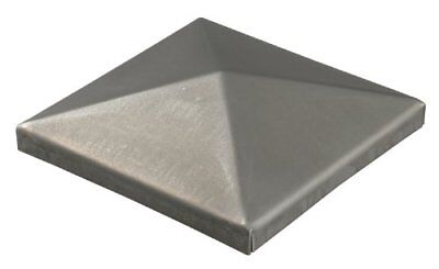 Weld-On Post Cap for Square Metal Posts Untreated Steel 100 x 100 mm  10 Stk.