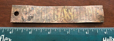 Shell Gasoline 1930s Brass Gas Pump Emblem -metal detecting find from New Mexico
