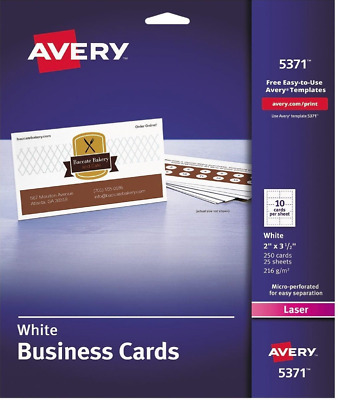 2 Pack Avery Lot Business Cards (5371) 250 Cards, 450 Address Labels (6871)