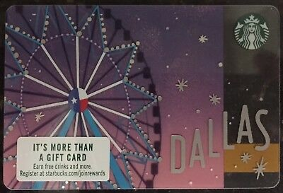 New RARE or Hard to Find 2018 Starbucks DALLAS, TX  Gift Card