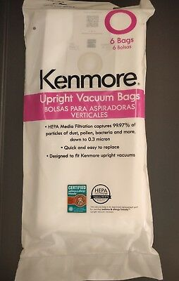 NEW genuine Kenmore 53294 Type O HEPA Bags for Upright Vacuums 6 Pack 50690 0