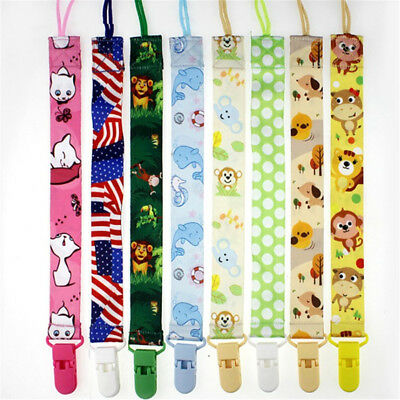 Lot Baby Boys Girls Dummy Pacifier Soother Nipple Leash Strap Chain Clip Holder