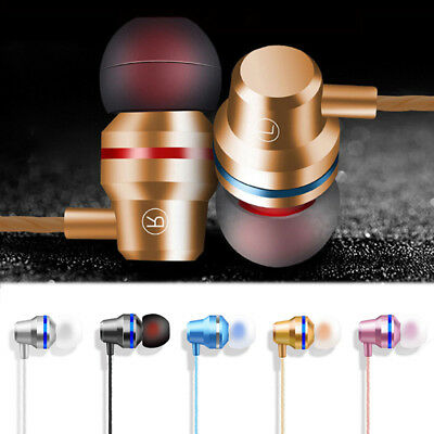 Metal Stereo Headphone Bass Earphone Sport Headset Hands Free Earbuds With Mic_