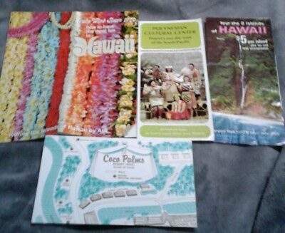 Lot 4 Trade Wind Tours Hawaii Polynesian Cultural Ctr Coco Palms Resort Map 1970