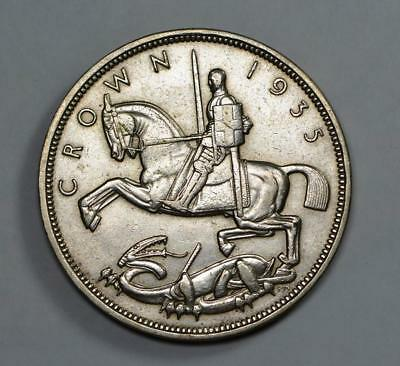 "Great Britan, 1935 Silver Crown, George V, ""Rocking Horse"", 28,22grams"