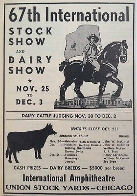 1966 AD.(XD4)~UNION STOCK YARDS, CHICAGO. 67th STOCK AND DAIRY SHOW