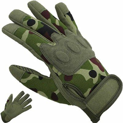 Tactical Outdoor Mens Full Finger Gloves Military Army Painball Shooting Hunting