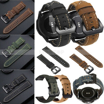 Quick Release Genuine Leather Watch Band Strap For Samsung Galaxy Watch 42 46mm
