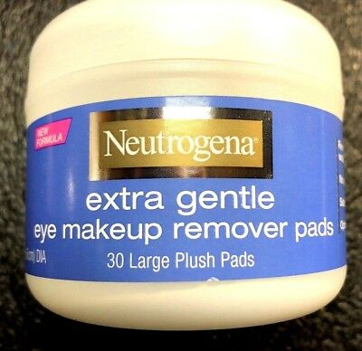Neutrogena Extra Gentle Eye Makeup Remover Pads, 30 Large Plush Pads