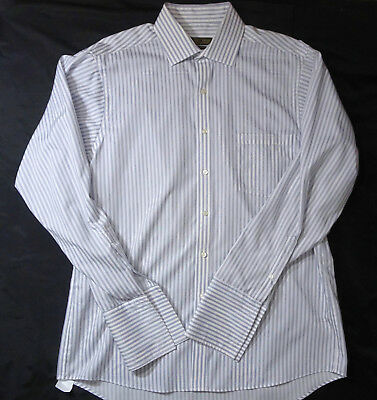 Donald Trump Signature Collection Fr. Cuff Button Front Shirt Stripes 16 34/35