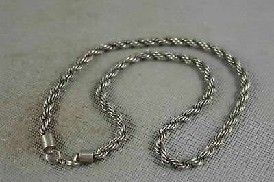 Collection Chinese Style Old Miao Silver Carve Tibet Amulet Royal Necklace Gift