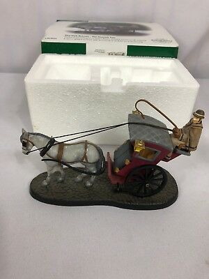 "Dept 56 Dickens Village ""Sherlock Holmes The Hansom Cab"" 58534 with Box"