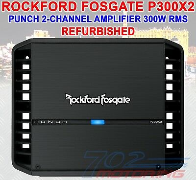 Rockford Fosgate Punch P300X2 RB 300 Watts RMS 2 Channel Class AB Car Amplifier