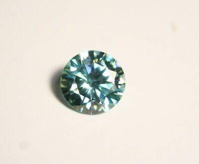 2.6ct Blue Moissanite Round - Beautiful Precision Cut Gem