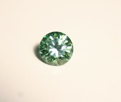 1.2ct Green Moissanite Round - Beautiful Precision Cut Gem