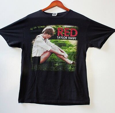 Taylor Swift The Red Tour White T-Shirt Country Pop 2013 Sz M
