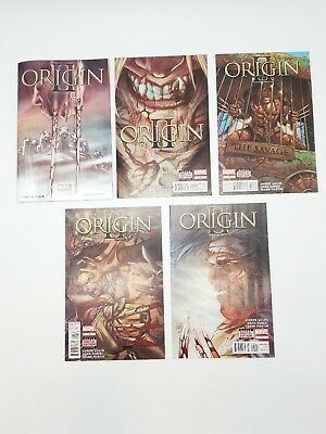 Origin II 1 2 3 4 5 Complete Set 2 1st Print 1-5 Marvel Comic Book Lot Wolverine