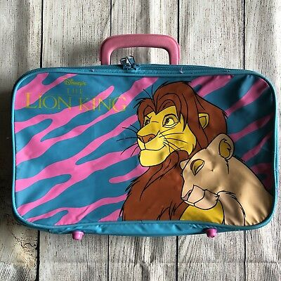 Vintage 90s Disney The Lion King Simba Nala Suit Case Bag Carrying Case