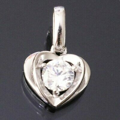 1 Ct Round Diamond Heart Pendant Charm Women Girls Love Gift 14k White Gold S15