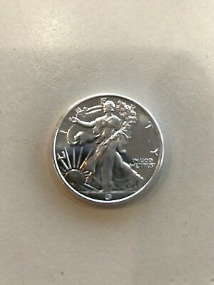 1/2 Troy Oz Walking Liberty by Great American Mint , .999 Fine Silver Art Round