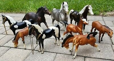 assorted lot of 9 vintage Breyer horses traditional