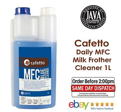 Cafetto Daily Milk Frother Cleaner Blue 1L * FAST DISPATCH * FREE SHIPPING