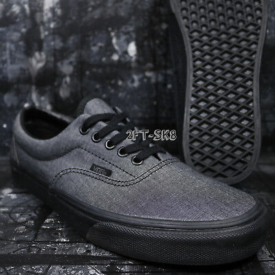 b8d8292305 VANS ERA MONO Chambray Black Black Men s Skate Shoes   S85138.282 ...