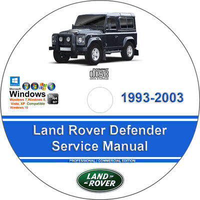land rover defender 90 110 127 1983 1990 service and repair