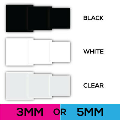 Plastic Laser Cut Acrylic Squares Diamond - CUT TO ANY SIZE - 3mm or 5mm Acrylic