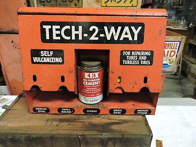 Vintage Tech 2 Way Tire Tube Patch Repair Store Display Kit, Sign, (VAB)