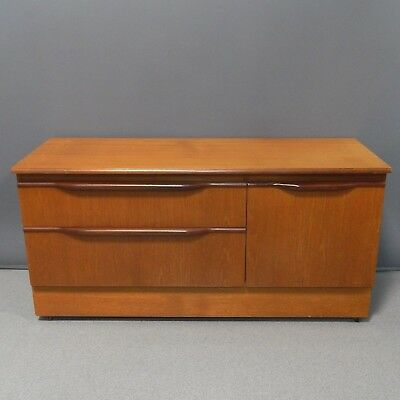 Vintage G Plan Style Media Unit TV Stand Low Sideboard Mid Century Teak