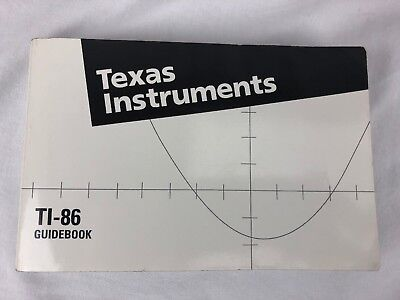 Ti 86 Guidebook Texas Instruments