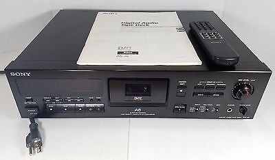 TESTED Sony DTC-A6 DAT Digital Audio Tape Deck Recorder Player + Remote & Manual