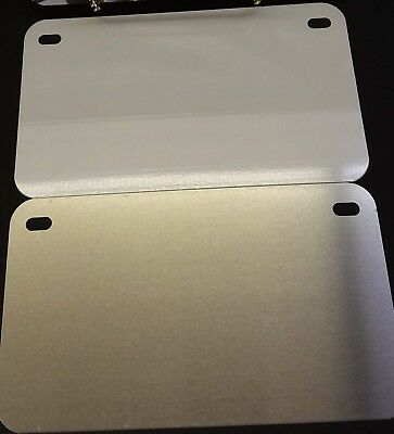 """1 Piece Blank License Plate 4""""x7"""" SUBLIMATION Aluminum NEW Tag Motorcycle ATV"""