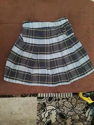 d590cc47a5 Girls French Toast Schooluniform Green Navy Plaid Pleated Skirt Size 18
