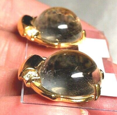 RARE Alfred Philippe Crown Trifari Lucite Cabochon Sterling 186594 Pat. Number
