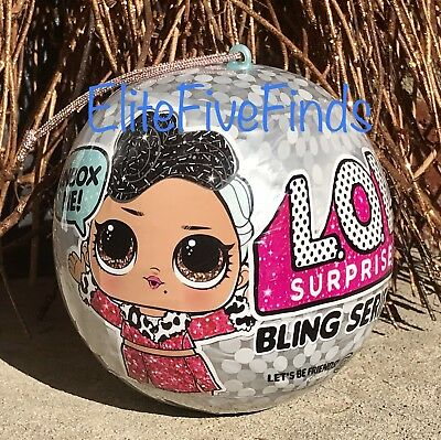 LOL Surprise! BLING Series Holiday Doll Glam Glitter Ball Ornament