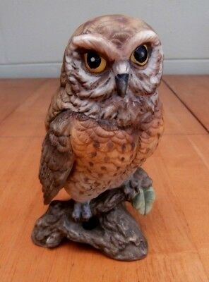 "Fine Porcelain Owl - Hand Painted - Realistic - 5 1/2 "" tall  Great Condition"