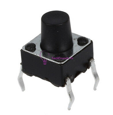 100PCS 6X6X7mm Tactile Push Button Switch Tact Switch 4-pin NEW
