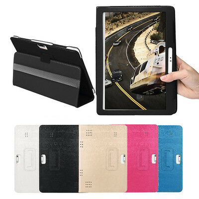 Universal 10 10.1 Inch Folio Leather Stand Case Cover For Android Tablet PC New