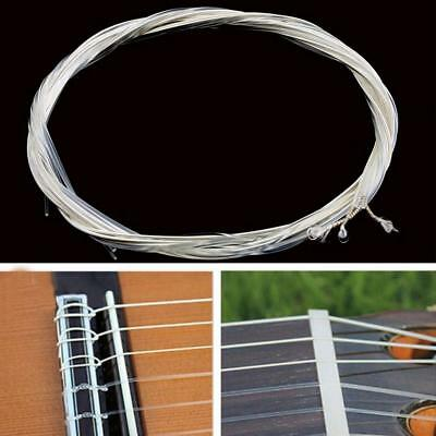 6pcs Guitar Strings Nylon Silver Plating Set Super Light for Acoustic Guitar