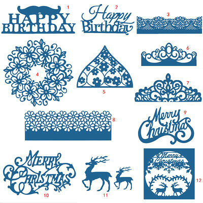 Christmas Lace Cutting Dies Metal Stencil DIY Scrapbooking Album Paper Card Art