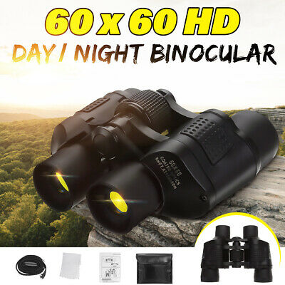 Day/Night HD Binoculars 60x60 Military Hunting Waterproof Telescope Coordinates