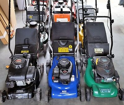 Freshly Serviced 4 Stroke Petrol Lawnmowers Exc Cond Dozens Available