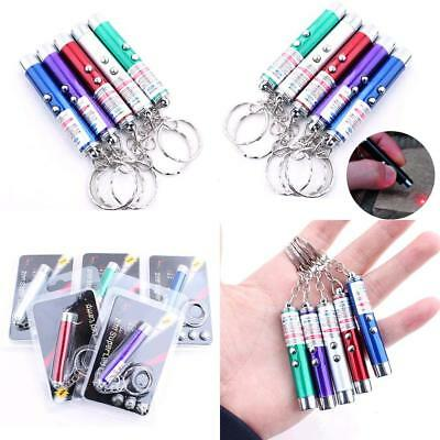2-in-1 Laser Lazer Pen Pointer Keychain Keyring With Torch Cat Dog Toy Playing